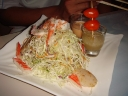 House Salad With Big Prawns and Scallops