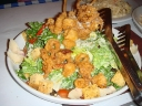 Caesars Salad with fried calamari