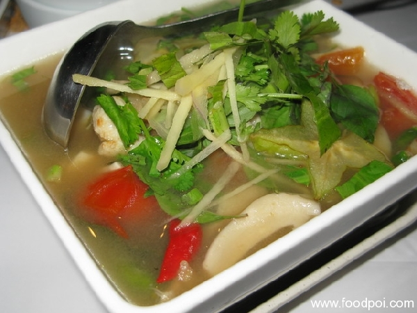 Tom Som with Fish - RM15 Small [Clear Galangal-Lemon grass-Lime soup with Aromatic Thai herbs] (A MUST ORDER!)
