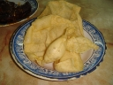 Freshly fried papadums