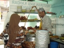 Traditional setup of nasi kandar stalls