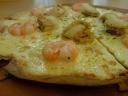 Scallop and Prawns Pizza