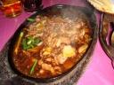 Hot Plate Venison in Black Pepper Sauce